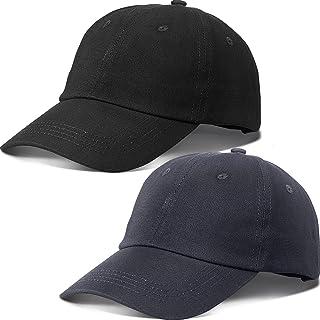 2 قطعة أطفال قبعة بيسبول مهترئة قبعة بيسبول 6 لوحات قبعة بيسبول قابلة للتعديل سادة للأولاد والبنات