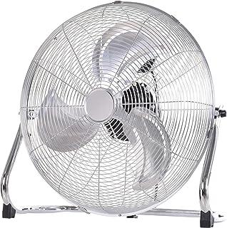 Grand ventilateur de bureau Ø 51 cm silencieux puissant 100 W 3 vitesses tête réglable gris métal