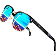 ATTCL Men's Driving Polarized Rimless Sunglasses Al-Mg Metal Frame Ultra Light