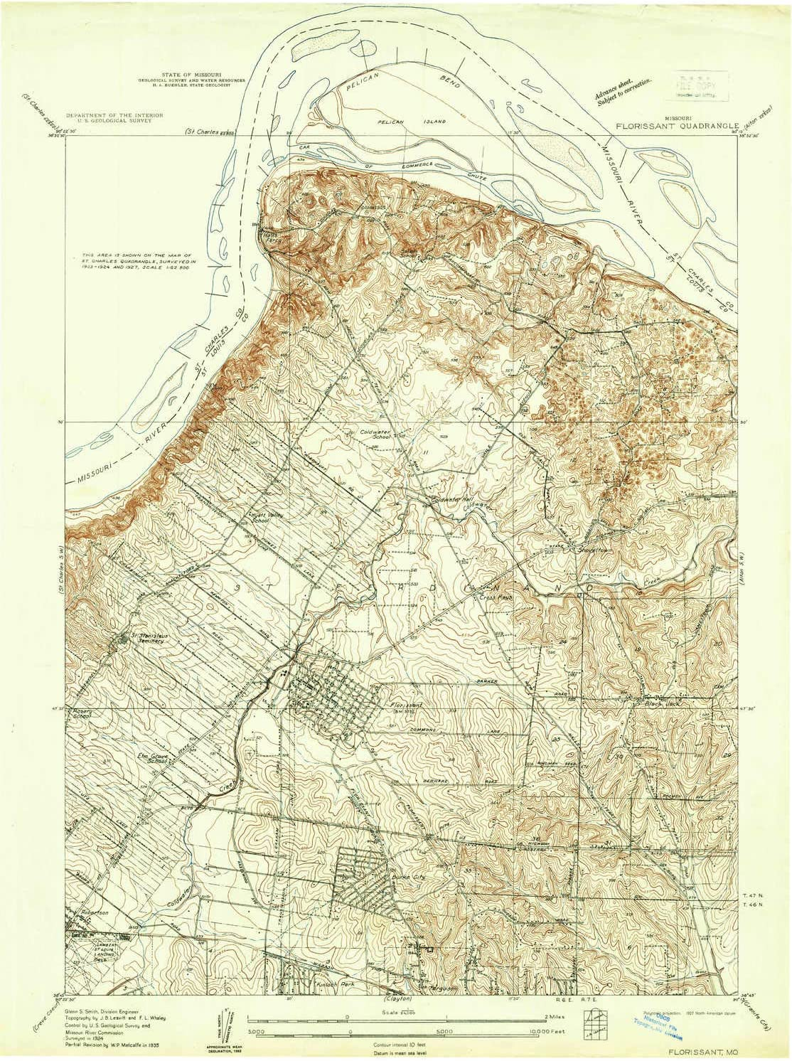 YellowMaps Florissant MO topo map Reservation 7.5 X 1:24000 Minu Scale Popularity