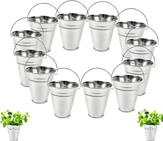 Dazzling Toys Large Galvanized Buckets (1 Dozen) Great Buckets for Planters or Unique Goody Baskets