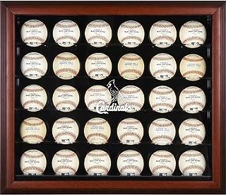 St. Louis Cardinals Framed 30-Ball Logo Display Case
