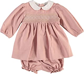 Carriage Boutique Baby Girls Long Sleeve Hand Smocked Dress
