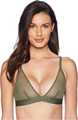 Tonal Logo Mesh Unlined Triangle Bra