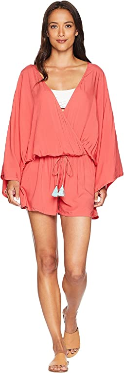 Riviera Solids Cover-Up Romper