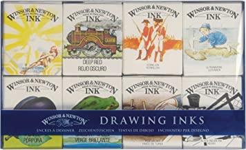 Winsor & Newton William Colección de tintas para dibujo, 8 frascos de 14 ml