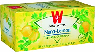 Wissotzky Nana Lemon Herbal Tea, 20 bags (6 Pack) Lemon Tea With a Refreshing Burst Burst of Mint