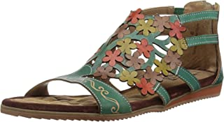 L'Artiste by Spring Step Women's MARIBEL Sandals, turquoise, 40 M EU (US 9)