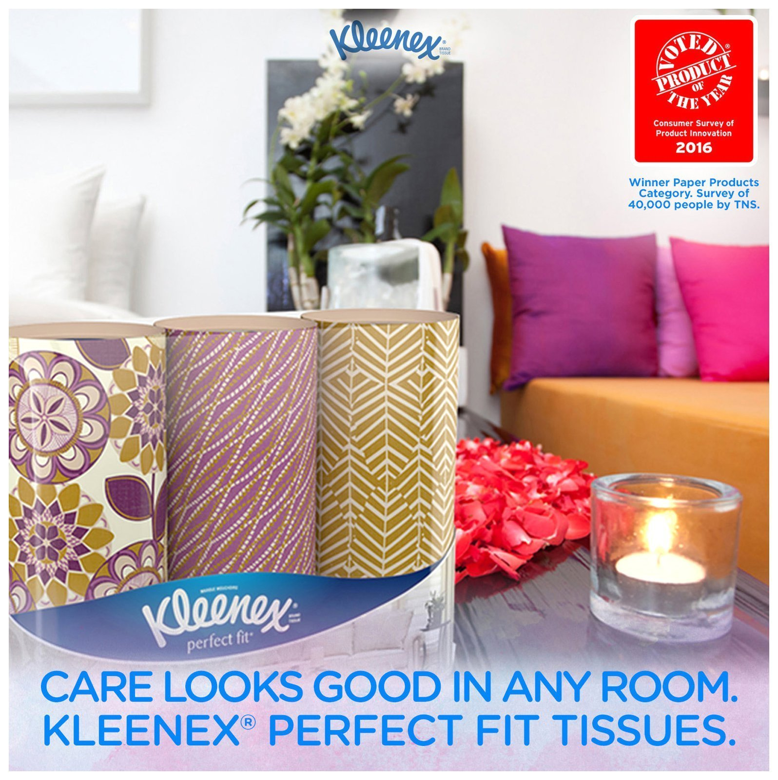 New Kleenex Perfect Fit 50 Count 4 pack Soft Strong and Absorbent Facial Tissues