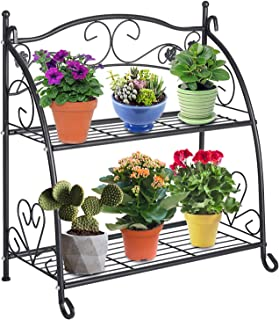 2 tier plant stand outdoor