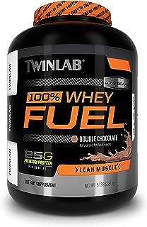 Twinlab 100% Whey Fuel Protein Powder Nutritional Shake, Double Chocolate, 5 Pound