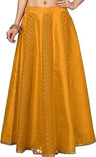 STUDIO Shringaar Women`s Brocade Skirt Lehenga (Ghaghra) Free Size