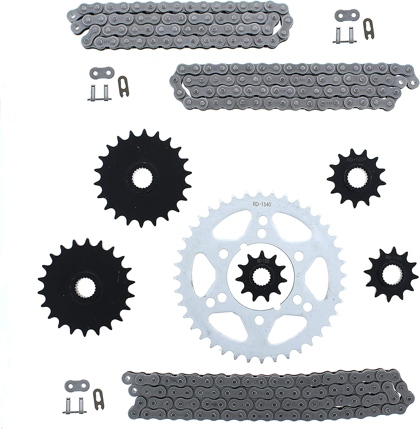 Non O-Ring Chain and Sprocket 5 ☆ popular Set 88L 70L 1996-1999 64L Selling rankings Polaris