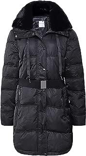 Rino and Pelle Women's Addison Faux Fur Trim Puffer Coat Black