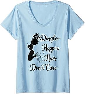 Womens Dinglehopper Hair Don`t Care Mermaid Funny Dingle Hopper V-Neck T-Shirt