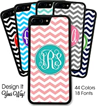 Custom Phone Case by Simply Customized, Compatible with iPhone 8 Plus (5.5 inch) - Chevrons You Design It Monogram Monogrammed Personalized