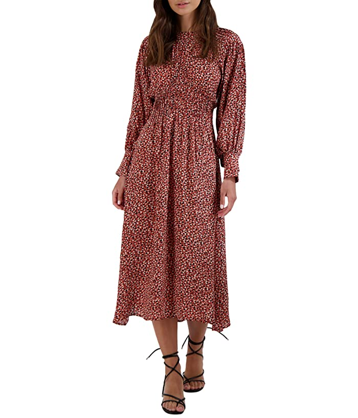 1930s Dresses | 30s Art Deco Dress BB Dakota Wild in Style Dress Rust Womens Clothing $108.95 AT vintagedancer.com