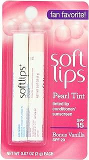 Softlips Pearl Tint and Bonus Lip Remedies, Vanilla, 0.07 Ounce (Pack of 12)