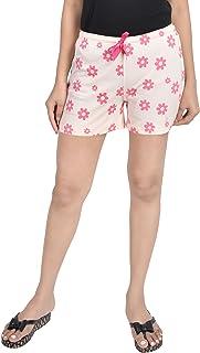 A9- Women Printed Peach Shorts