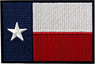 EmbTao Embroidered Texas State Flag Iron On Sew On Patch TX Emblem
