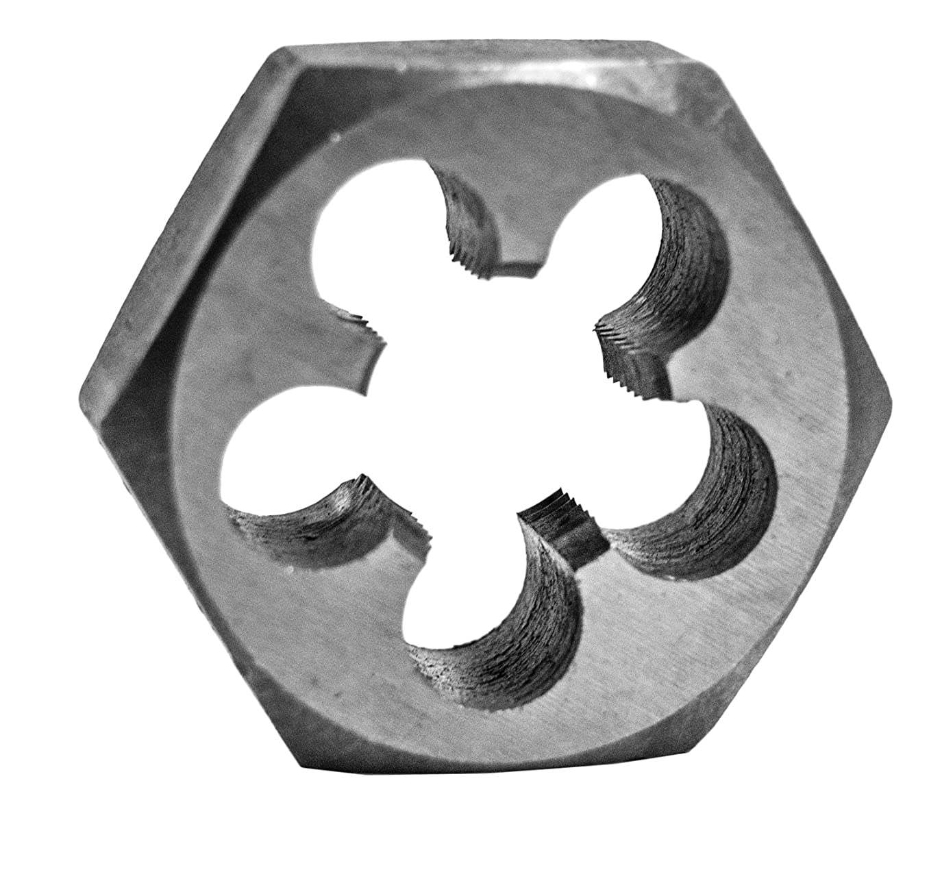 Century Drill & Tool 96210 High Carbon Steel Fractional Hexagon Die, 1/2-20 NF