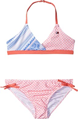 Tommy Hilfiger Kids - Pattern Mix Two-Piece Swimsuit (Big Kids)