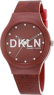 DANIEL KLEIN DKLN Plastic Case Silicon Band Ladies Wrist Watch - DK.1.12436-4