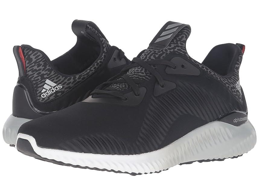 外交官タック配管(アディダス) adidas レディースランニングシューズ?スニーカー?靴 Alphabounce Black/Silver/White 10.5 (27.5cm) B - Medium