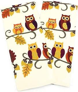 Casaba Fall Owls, Acorns & Leaves Kitchen Towel Set