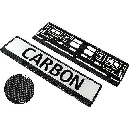 effetto 3D effetto carbonio Portatarga per auto L /& P Car Design A195 2 pezzi