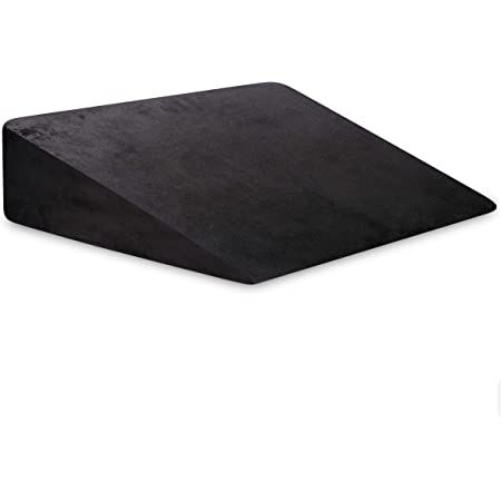 """The White Willow Bed Wedge Pillow Cushion For Back Support & Sleeping (20""""L x 20""""W x 7""""H) Acid reflux, GERD, Post Surgery, leg Elevation Cooling Gel Infused Memory Foam & HR Foam With Removable Cover"""