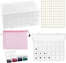 Belle Vous 5D Diamond Dot Painting Borduur Opslag Dozen met Accessoires (285 Delig) – 4 x 28 Batjes, Zakjes en Labels Kit voor Kunst en Knutselen – Voor Kinderen en Volwassenen
