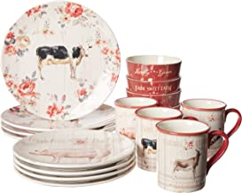 Certified International 87526 Farmhouse 16 pc Dinnerware Set, Service for 4