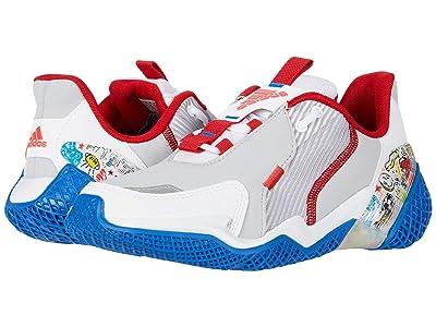 adidas Kids 4uture Rnr (Big Kid) (White/Scarlet/Glory Blue) Boy