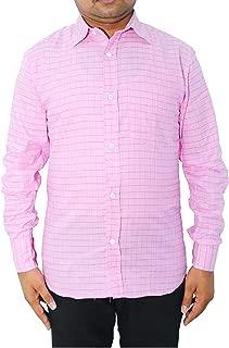 White King Men Cotton Formal Shirt (Pink)