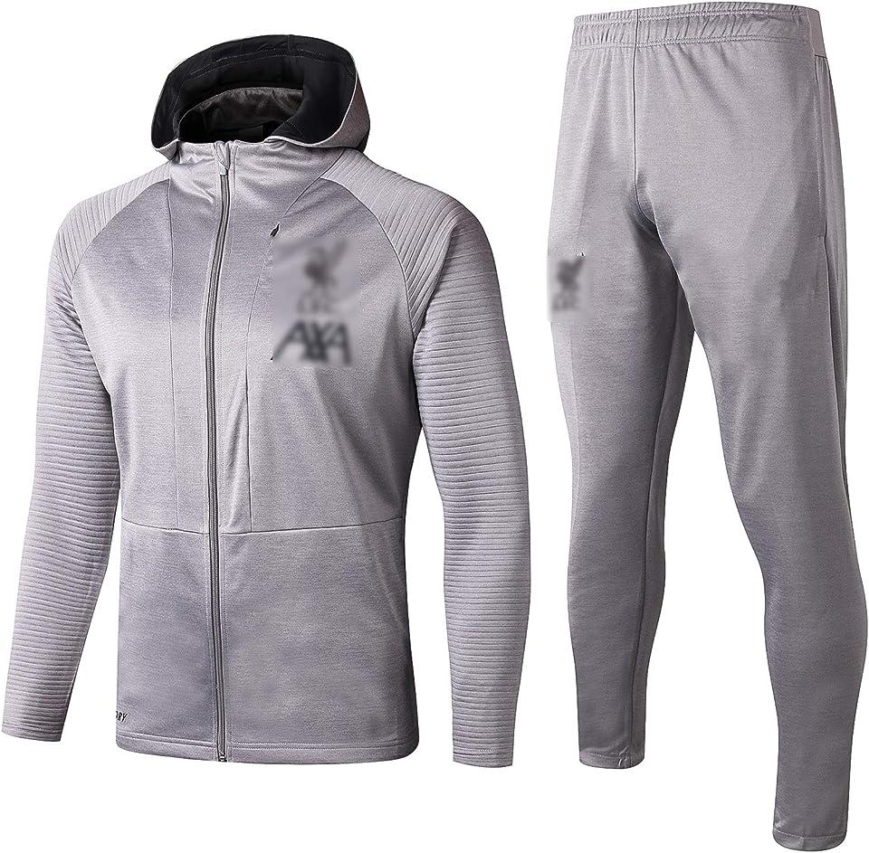 19-20 Liverpool Football Training Anzug, kurzärmelige Sportbekleidung Trainingsanzug, Outdoor-Sportmänner Kurzgezeichnete Sportbekleidung (S-XXL)