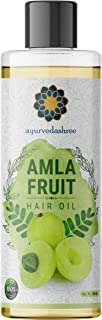 AYURVEDASHREE Amla Oil, 6.76 fl oz, for Hair Growth, with Bhringraj Oil, Brahmi Oil, Tulsi Oil, Almond Oil, Argan Oil, Mor...