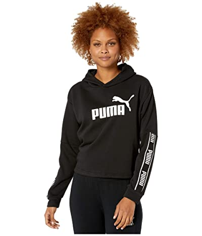 PUMA Amplified Cropped Hoodie (Cotton Black) Women