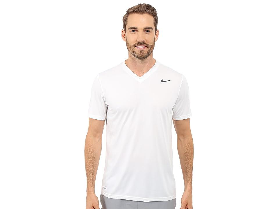 Nike Legend 2.0 Short Sleeve V-Neck Tee (White) Men