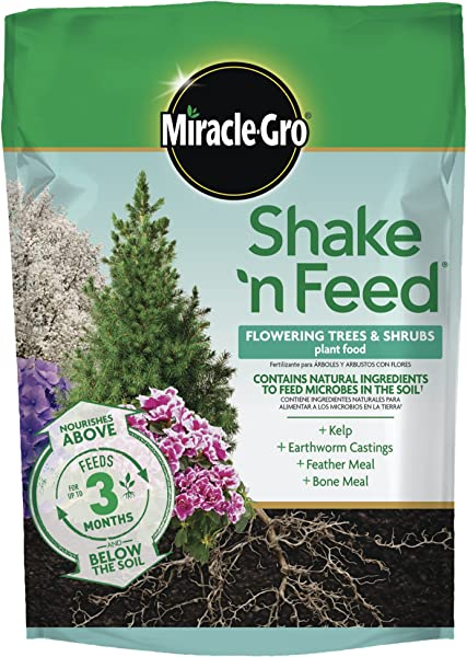 Miracle Gro Shake N Feed Flowering Trees And Shrubs Plant Food 8 Lbs