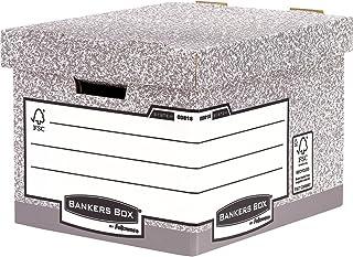 Fellowes 0081801 Bankers Box System Lot de 10 Boîtes d'archives Gris
