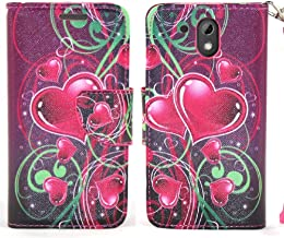 COVERLABUSA Comptiable for HTC Desire 526 Case, Luxury PU Leather Wallet Flip Protective Case Cover with Card Slots and Stand for HTC Desire 526 - Purple Heart