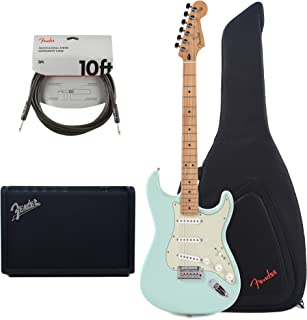 Fender Player Stratocaster Surf Green w/3-Ply Mint Pickguard (CME Exclusive) Essentials Bundle