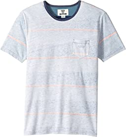 VISSLA Kids - Krakatoa Reverse Printed Short Sleeve Pocket Tee (Big Kids)