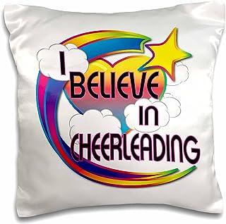 3dRose I Believe In Cheerleading Cute Believer Design, Pillow Case, 41cm by 41cm