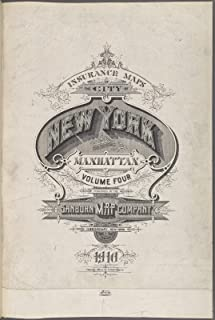 VintPrint Map Poster - Insurance maps of The City of New York, Borough of Manhattan. Volume Four. Published by The Sanborn Map Company, 11 Broad 11