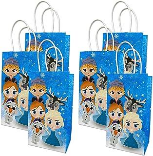 Frozen Candy Treat Bags Birthday Party Supplies Winter Snow Queen Goodie Party Favor Bags Elsa Anna Baby Shower Dessert Ba...