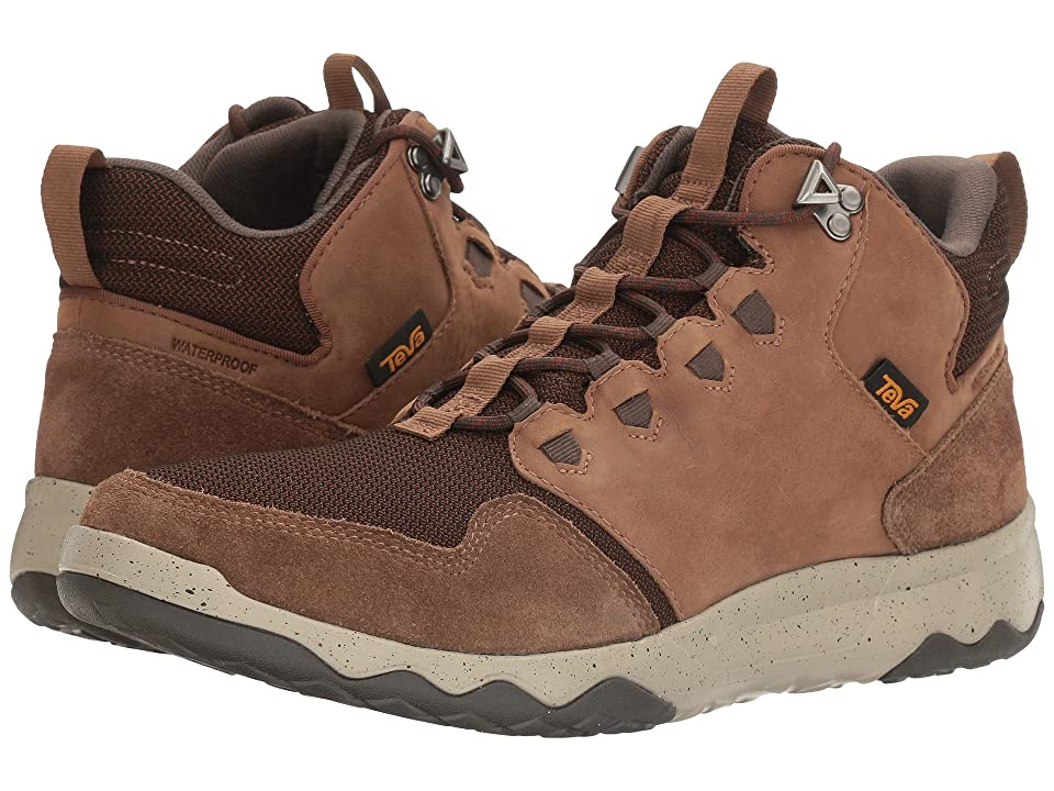 Teva Arrowood Mid WP (Bison) Men's Shoes, Brown