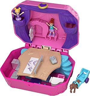 Polly Pocket Pocket World Tiny Twirlin' Music Box with Surprise Reveals, Micro Dolls & Accessory   [Amazon Exclusive]