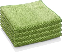 E-Cloth General Purpose Microfiber Cleaning Cloth, Lime Green, 4 Count